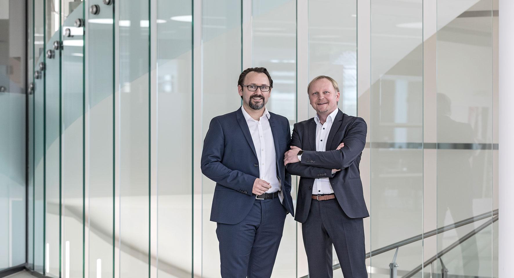 Unternehmen RRZ Geschäftsführer Ulfried Paier, Dietmar Schlar